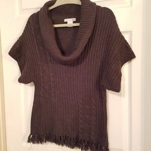 RXB Cowl Neck Sweater Brown Size Small